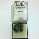 Hornblende  natural mineral/gemstone specimen in box